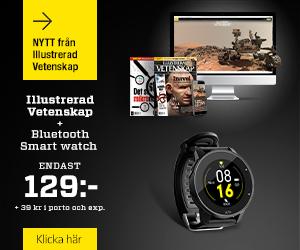 Illustrerad Vetenskap + Bluetooth Smart watch Återbäring