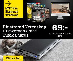 Illustrerad Vetenskap + Kraftfull powerbank med Quick Charge Rabatt / Återbäring