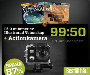 2 nr Illustrerad Vetenskap för 99:50 kr + PROX11 Full HD Actionkamera på köpet Rabatt / Återbäring