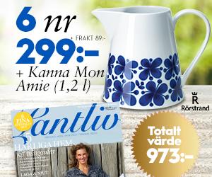 Lantliv - 6 nr + Kanna Mon Amie från Rörstrand Återbäring