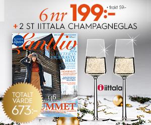 Lantliv - 6 nr + 2 champagneglas från Iittala Återbäring