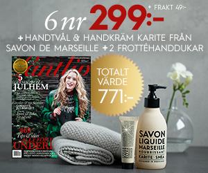 Lantliv - 6 nr + tvål & handkräm från Savon de Marseille + 2 handdukar Rabatt / Återbäring