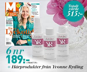 M-magasin - 6 nr 189 kr + hårprodukter från YR Rabatt / Återbäring
