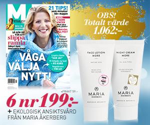 M-magasin - 6 nr + ansiktskrämer från Maria Åkerberg Återbäring