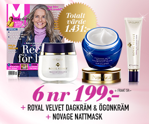 M-magasin - 6 nr + Dagkräm, ögonkräm och nattmask från Oriflame! Rabatt / Återbäring