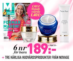 M-magasin - 6 nr + Hudvårdsprodukter från NovAge Rabatt / Återbäring