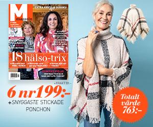 M-magasin - 6 nr + stickad poncho Rabatt / Återbäring