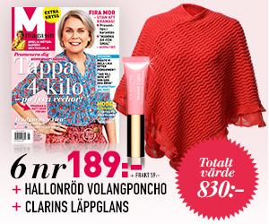 M-magasin 6 nr + volangponcho & lipgloss Rabatt / Återbäring