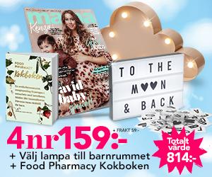 mama - 4 nr + lampa till barnrummet & Food Pharmacy Kokbok! Återbäring