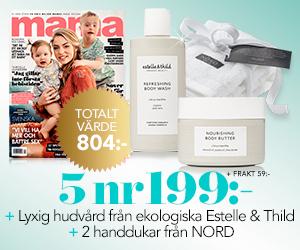 Mama - 5 nr + lyxigt kit från Estelle & Thild + 2 handdukar Rabatt / Återbäring