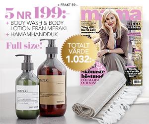 Mama - 5 nr + Meraki Body Wash & Lotion + hamamhandduk Rabatt / Återbäring