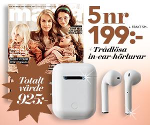 mama - 5 nr + trådlösa in-ear hörlurar Återbäring