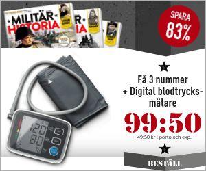 Tidningspremie: 3 nr Militär Historia + Digital blodtrycksmätare