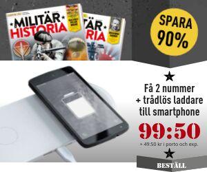 Tidningspremie: Militär Historia + Trådlös laddare till smartphone