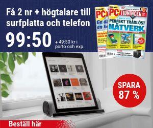 PC-tidningen + 2-i-1 högtalare till surfplatta och mobil Återbäring