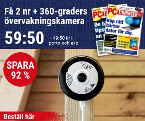 PC-tidningen + 360-graders övervakningskamera Återbäring