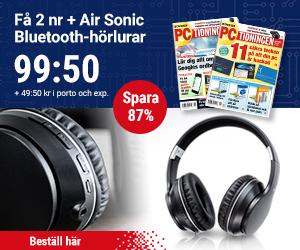PC-tidningen + Air Sonic Bluetooth-hörlurar Rabatt / Återbäring