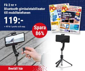 Tidningspremie: PC-tidningen + Bluetooth gimbalstabilisator