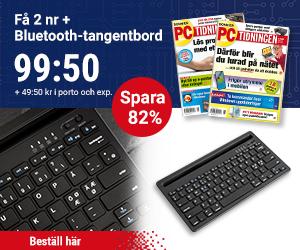 PC-tidningen + Bluetooth-tangentbord Återbäring