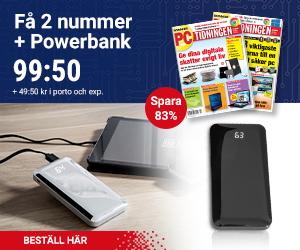 PC-tidningen + Kraftfull powerbank Återbäring