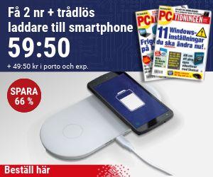 PC-tidningen + Trådlös laddare till smartphone Återbäring