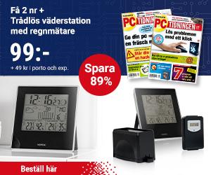 PC-tidningen + Trådlös väderstation med regnmätare Rabatt / Återbäring