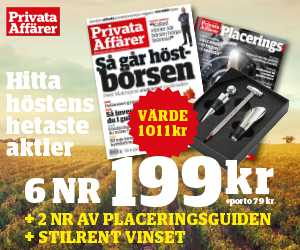 Tidningspremie: Privata affärer - 6 nr + 2 nr av Placeringsguiden & vinset i rostfritt stål