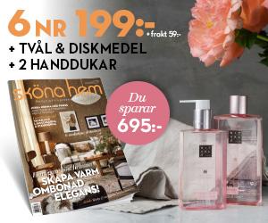Sköna hem - 6 nr + handtvål och diskmedel från Rituals + två handdukar i linnemix Återbäring