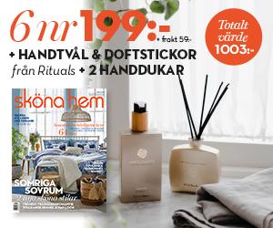 Sköna Hem 6 nr + Rituals handtvål & doftstickor + två handdukar Rabatt / Återbäring