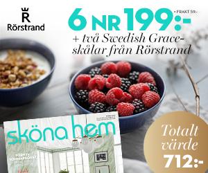 Tidningspremie: Sköna Hem - 6 nr + två Swedish Grace-skålar från Rörstrand