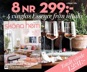 Sköna hem - 8 nr + 4-pack vitvinsglas från Iittala Återbäring