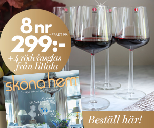 Sköna hem - 8 nr + 4 rödvinsglas från iitala Rabatt / Återbäring