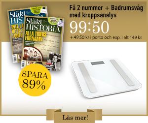 Släkthistoria + Badrumsvåg med kroppsanalys Rabatt / Återbäring
