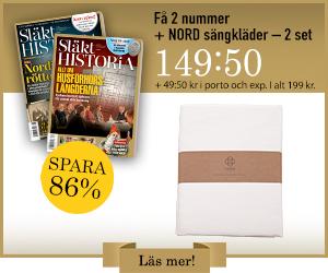 Släkthistoria + NORD sängkläder Rabatt / Återbäring