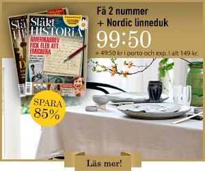 Släkthistoria + Nordic linneduk Rabatt / Återbäring