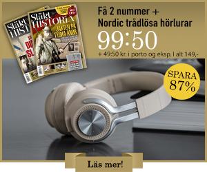 Släkthistoria + Nordic trådlösa hörlurar Rabatt / Återbäring
