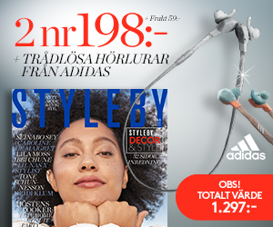 Tidningspremie: STYLEBY - 2 nr + trådlösa hörlurar från adidas!
