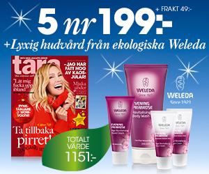 Tidningspremie: Tara - 5 nr + fyra mjukgörande produkter från Weleda