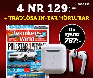 Teknikens Värld - 4 nr 129 kr + Trådlösa in-ear-hörlurar Rabatt / Återbäring