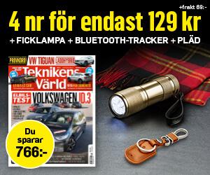 Teknikens Värld - 4 nr +  Ficklampa, Bluetooth-tracker/nyckel/mobilhållare & pläd Återbäring