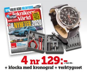 Tidningspremie: Teknikens Värld - 4 nr + klocka med kronograf & verktygsset
