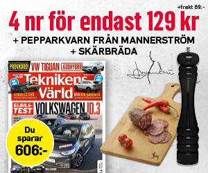 Teknikens Värld - 4 nr +  Mannerströms pepparkvarn & skärbräda Rabatt / Återbäring