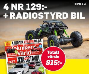Teknikens Värld - 4 nr + Radiostyrd bil Rabatt / Återbäring