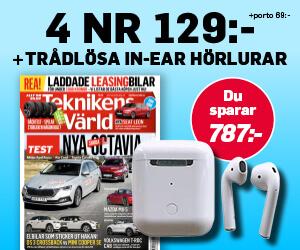 Tidningspremie: Teknikens Värld - 4 nr + Trådlösa in-ear hörlurar