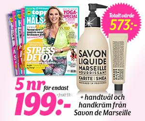 Topphälsa - 5 nr + handtvål & handkräm från Savon de Marseille Återbäring