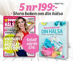 ToppHälsa - 5 nr + Stora boken om hälsa Rabatt / Återbäring