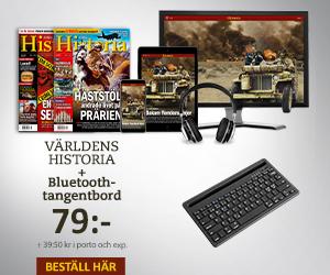 Tidningspremie: Världens Historia + Bluetooth-tangentbord