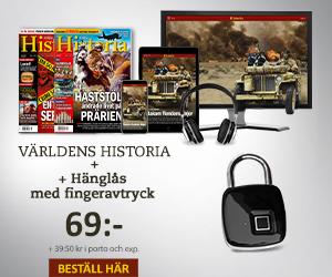 Världens Historia + Hänglås med fingeravtryck Återbäring