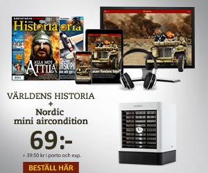 Världens Historia + Nordic mini aircondition Återbäring