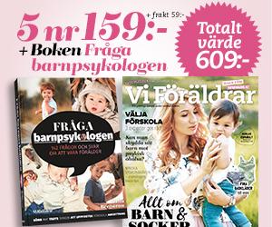 """Vi Föräldrar - 5 nr + Boken """"Fråga barnpsykologen"""" Rabatt / Återbäring"""